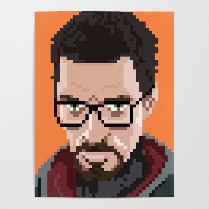 Gordon Freeman Portrait Poster By Manicgfx
