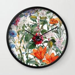 Vintage Garden IX Wall Clock