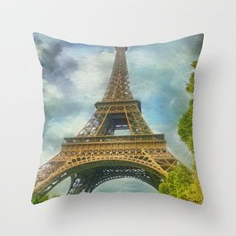 Eiffel Tower - La Tour Eiffel Throw Pillow