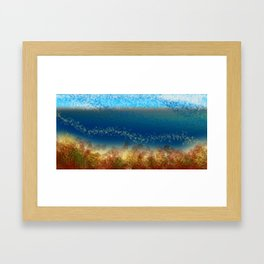 Abstract Seascape 01 w Framed Art Print
