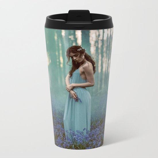 Girl in forest 2 Metal Travel Mug