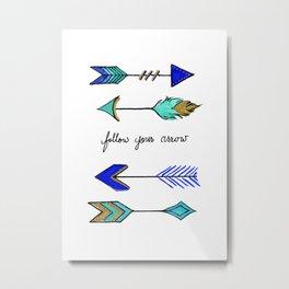 Wherever It Points Metal Print
