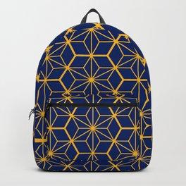 Traditional Japanese Pattern - blue, orange Backpack
