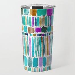 DASHED Colorful Tribal Watercolor Travel Mug