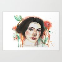 Dragonfly Girl Art Print