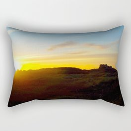 Winter sunset in Bamburgh Rectangular Pillow
