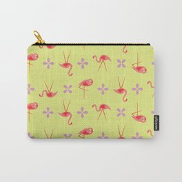 Pink plastic flamingos Carry-All Pouch