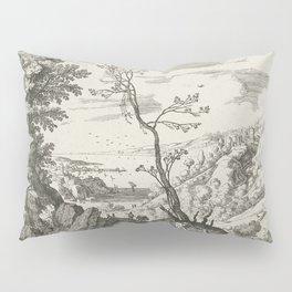 Landscape With Judah And Tamar Willem van Nieulandt II Pillow Sham