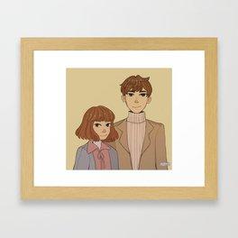 Bong soon and Min hyuk Framed Art Print