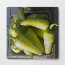 Yellow Chiles in Santa Fe Metal Print