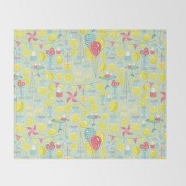 Lemonade Party Throw Blanket