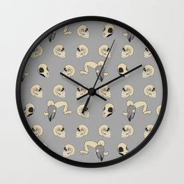 Human Animal Skull Pattern Wall Clock