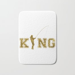 Angeln King graphic–Ideales Geschenk für Angler Bath Mat