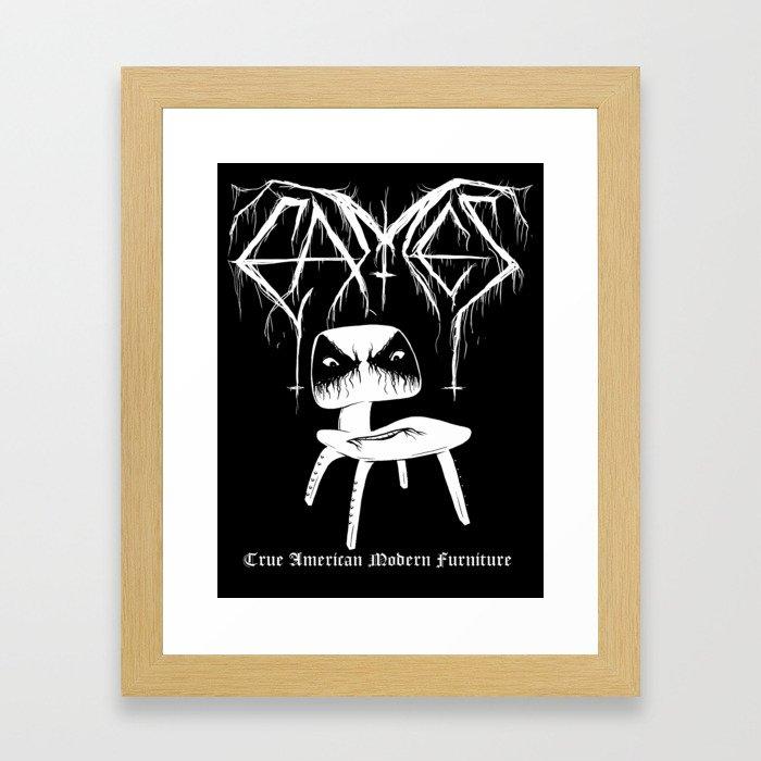 Modern Black Metal Framed Art Print