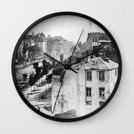 Boulevard du Temple Daguerreotype Wall Clock