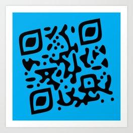 QR Clothes Cyan - Accessories Art Print