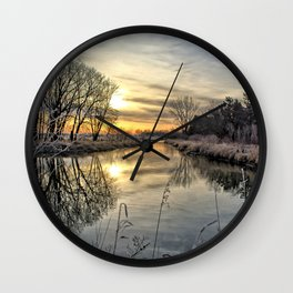 Along The River Bank 2 Wall Clock