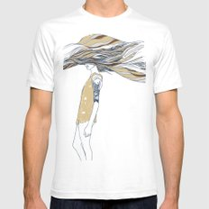 TRULY, DEEPLY IN LOVE White SMALL Mens Fitted Tee