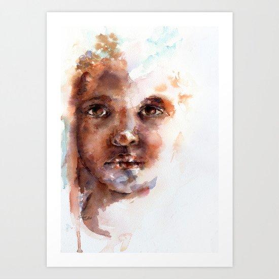 Face of Africa Art Print