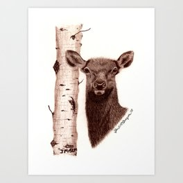 Lead Cows Know Art Print