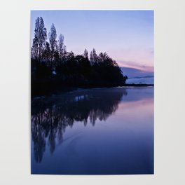Tranquil blue nature Poster