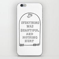 vonnegut iPhone & iPod Skins featuring Vonnegut -  Billy Pilgrim by Neon Wildlife