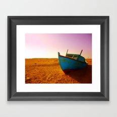 sailing the sand Framed Art Print