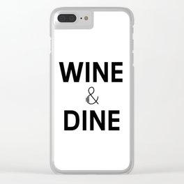 Wine & Dine Clear iPhone Case