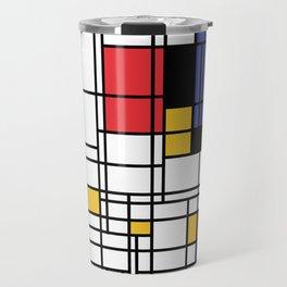 Mondrian Shape Art Travel Mug