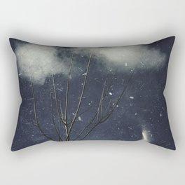 Tree In Clouds Rectangular Pillow