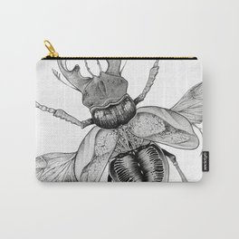 Dotwork Flying Beetle Illustration Carry-All Pouch