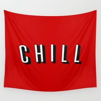 chill Wall Tapestries featuring Chill by Jessie Rose