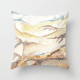 Dunes and desert Throw Pillow