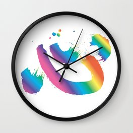 Calligraphy_HeartRainbow Wall Clock