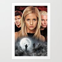 buffy the vampire slayer Art Prints featuring Buffy The Vampire Slayer  by SB Art Productions