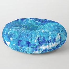 Dark Ocean Blue Floor Pillow
