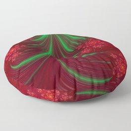 Christmas Flow - Fractal Art Floor Pillow