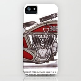 1914 Excelsior Henderson Motorcycle Catalog Advertisement Print iPhone Case