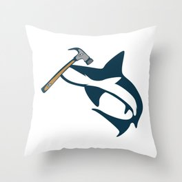 Hammerhead Shark Animal Person Gift Throw Pillow