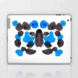Black & Blue Organic Pattern Inkblot Laptop & iPad Skin