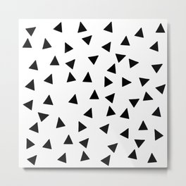 hand drawn triangles (haphazard pattern) Metal Print