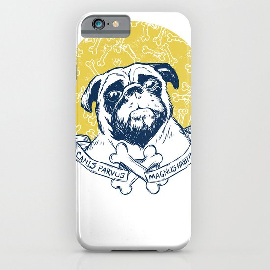 Pug : Small dog, big attitude. iPhone & iPod Case
