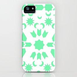Mint Arabesque iPhone Case