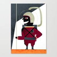 spaceman Canvas Prints featuring SPACEMAN by Eleonora