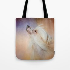 Wind In Her Hair - Chinese Crested Hairless Dog Tote Bag