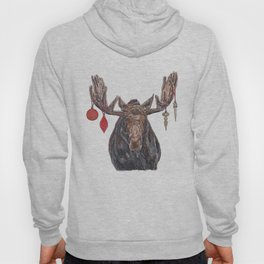 Moose with Baubles Hoody