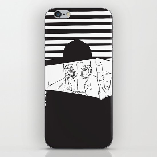 Man in the Mask -Watching your Walls iPhone & iPod Skin