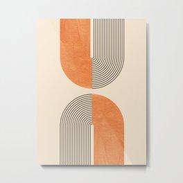 Harmony - Mid Century Modern  Metal Print