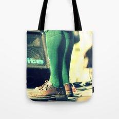 Green socks Tote Bag