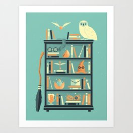 Potter Shelf | Rowling Art Print